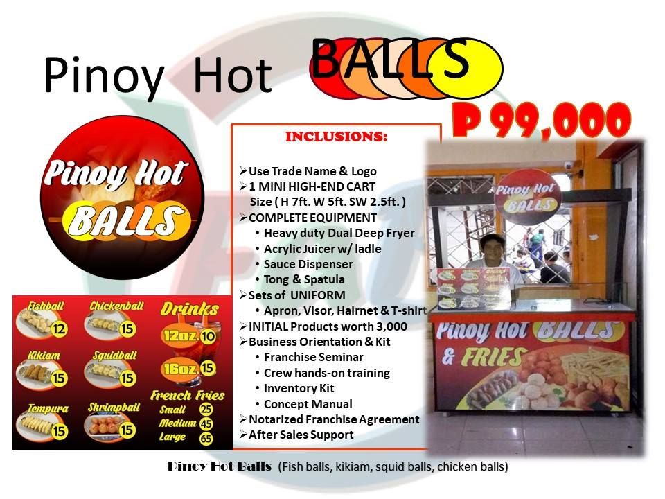 pinoy hot balls franchise
