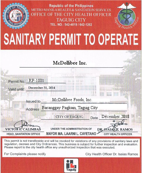 How To Apply For Sanitary Permit In The Philippines