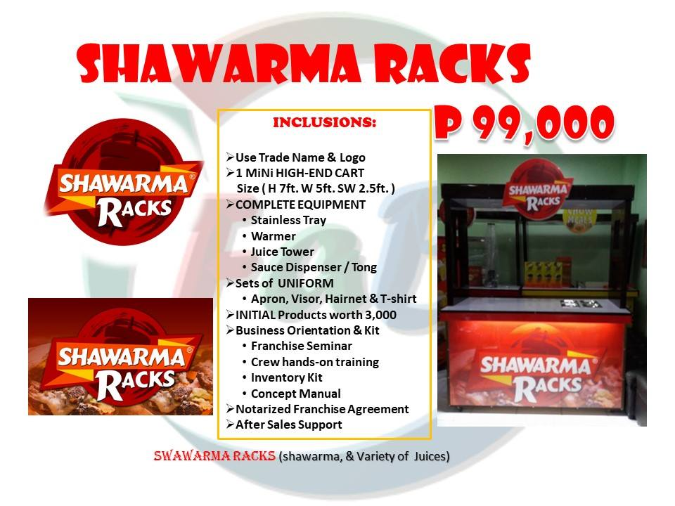 shawarma racks franchise business